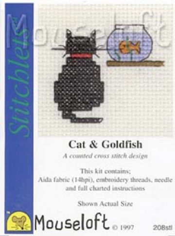 Mouseloft Stitchlets  Cat and Goldfish